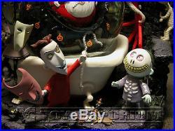 Disney's Nightmare Before Christmas RETIRED Jack Captures Santa Claus Snowglobe