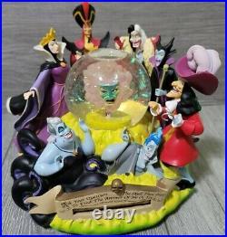 Disney's Villains Fortune Teller Musical Snow Globe Statue Maleficent Snowglobe