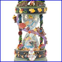 Disney store Japan 25th Anniversary Alice Hourglass Snow dome Music Box Globe FS