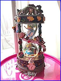 Disney store Japan 25th Anniversary Alice in Wonderland Snow Globe Dome