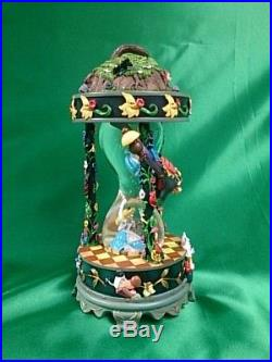 Disney store Japan 25th Snow Dome Alice in Wonderland Snow Globe Music Box