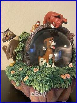 Disneys Classic Fox And Hound Snowglobe Rare Globe