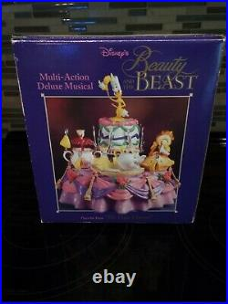 Enesco Disney Beauty And The Beast NEW Multi-action Deluxe Musical. BNIB Mint
