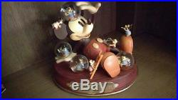 Extremely Rare! Walt Disney Mickey Mouse Having a Nightmare Snowglobe Statue