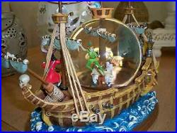 Extremely Rare! Walt Disney Peter Pan Captured by Captain Hook Snowglobe Statue