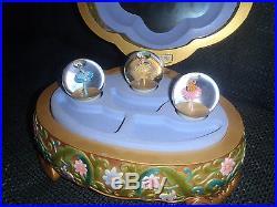 Extremely Rare! Walt Disney Princess Music Box Big Figurine Statue Globe