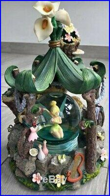 Extremely rare Disney TinkerBell Musical washing in the woods Snow globe
