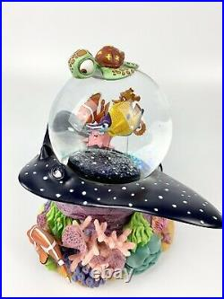 Finding Nemo Musical Snow Globe Plays Over The Waves Disney Rare Coral Reef