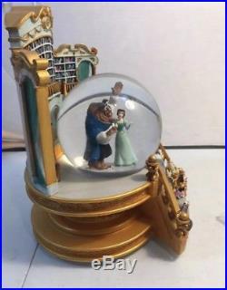 HTF Disney Beauty And The Beast Snow Globe Library