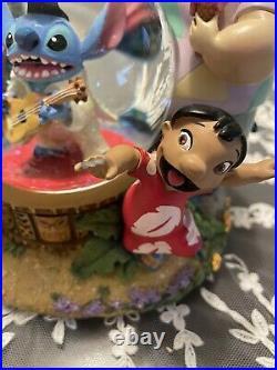 Lilo & Stitch Stitch As Elvis Disney Snow Globe Rare No Box