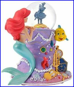 Little Mermaid Ariel Snow Globe Figure 30th Anniv Limited music box Disney Store