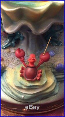 Little Mermaid Disney Musical Lightup Snowglobe Withoriginal Box
