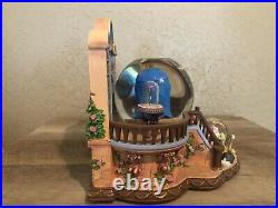 Mint! Disney Beauty and the Beast Library Music Snowglobe with Blower 1991