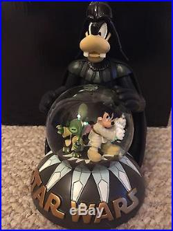 NEW Disney Star Wars Darth Vader Goofy Snow Globe Jedi Mickey Stitch Yoda