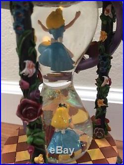 NEW Disney Store Japan Alice in Wonderland Hourglass 25th Anniversary Snow Globe