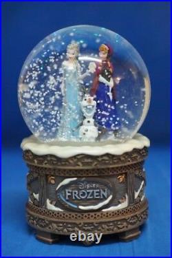 NIB Disney Frozen Music Snowglobe ELSA ANNA OLAF Plays Let It Go