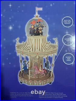 NIB Disney Mary Poppins Carousel Snow Globe play Jolly Holiday