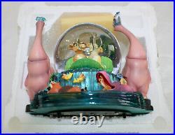 NIB Lion King II Simbas Pride Musical Snowglobe Waterglobe Glitter Globe Disney