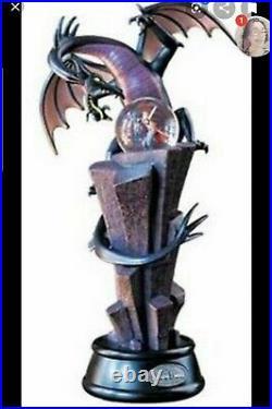 NIB Rare 2004 Disney Maleficent Dragon musical Snowglobe battery Perfect