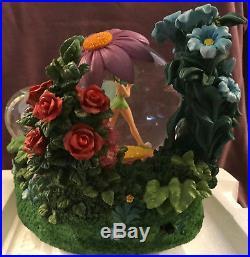 New! Disney Tinker Bell Tinkerbell Spring Garden Snow Globe Snowglobe