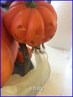 Nightmare Before Christmas RARE Pumpkin/Jack & Friends Snow Globe/Disney