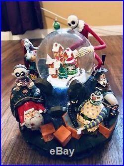 Nightmare Before Chritsmas Rare Large Disney Snowglobe Jack As Santa