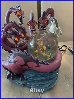 RARE 1997 Vintage Disney Hercules Vs Hydra 10th Anniversary Musical Snow Globe