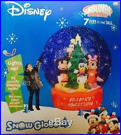 RARE 7 Disney Airblown Inflatable Snow Globe Gemmy Huge
