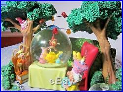 RARE DISNEY Alice in Wonderland Tea Party Musical Snowglobe UNBIRTHDAY SONG