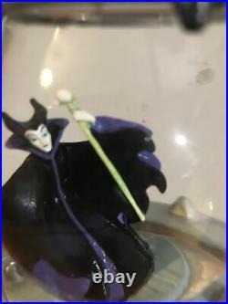 RARE! DisneyMaleficentSnow Globe on Hanging Vine Stand Sleeping Beauty Villain
