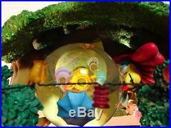 RARE Disney Alice in Wonderland Unbirthday Tea Party Musical Snow Globe