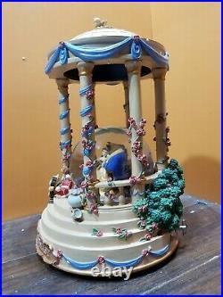 RARE! Disney Beauty And The Beast Belle Wedding Gazebo Music Water Snow Globe