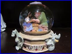 RARE Disney Hunchback of Notre Dame Esmeralda Quasimoto Snowglobe Music Box