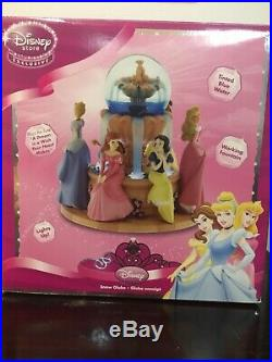 RARE Disney Princess Musical Snowglobe Retired Wishing Fountain Lights Up VHTF