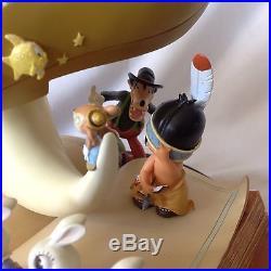RARE Disney SILLY SYMPHONIES Figurine Statue Snow Globe-MIB