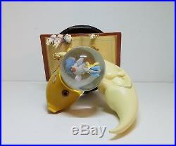 RARE Disney SILLY SYMPHONIES Figurine Statue Snow Globe Moon Sail