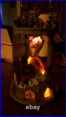 RARE Disney Sleeping Beauty Aurora Hourglass Snowglobe Music & Lights Up