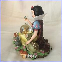 RARE Disney Snow White IM WISHING Musical Figurine SnowGlobe