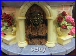 RARE Disney Store Beauty and the Beast Belle Castle Snowglobe Music Box Display