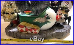 RARE Disney Store Nightmare Before Christmas Large Musical Snow Globe With Box