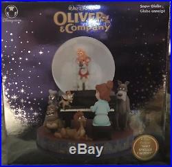 RARE Disney Store Oliver and Company Snowglobe 2008
