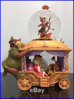 RARE Disney's Exclusive 35th Anniversary Robin Hood Musical Snow Globe READ