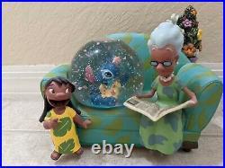 RARE Disney's Lilo & Stitch Couch Grandma You Are So Beautiful Snowglobe