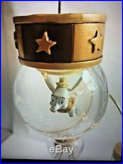 RARE Gold Disney Mini Snow Globe Christmas Tree Tabletop Display Stand