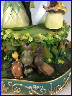 RARE! RARE! Disney Store Princess and the Frog Tiana Naveen Snow Globe Wedding