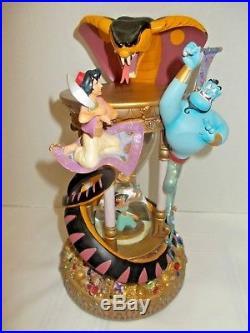 RARE! Walt Disney World Aladdin Hourglass Snowglobe with lights & music