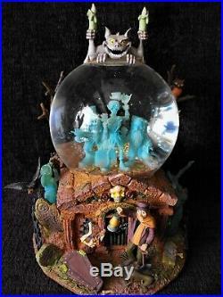 Rare Disney Haunted Mansion Grim Grinning Ghosts Music Light Up Snowglobe