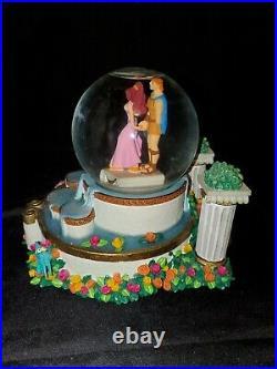 Rare Disney Hercules and Meg Fountain Snowglobe HTF Phil Pain Panic I Won't Say