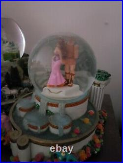 Rare Disney Hercules and Meg Fountain Snowglobe I Won't Say