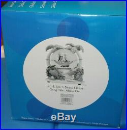 Rare Disney Lilo and Stitch snow globe Musical Aloha Oe EUC with box